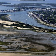 View of Rachel Carson Reserve, Taylor's Creek and Beaufort.