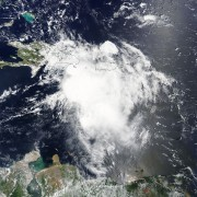 Satellite image of Tropical Storm Erika