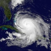 Satellite image of Hurricane Joaquin.