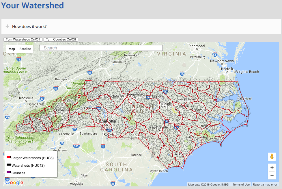 A Cohesive Strategy The North Carolina Watershed Stewardship - Interactive map us watershed