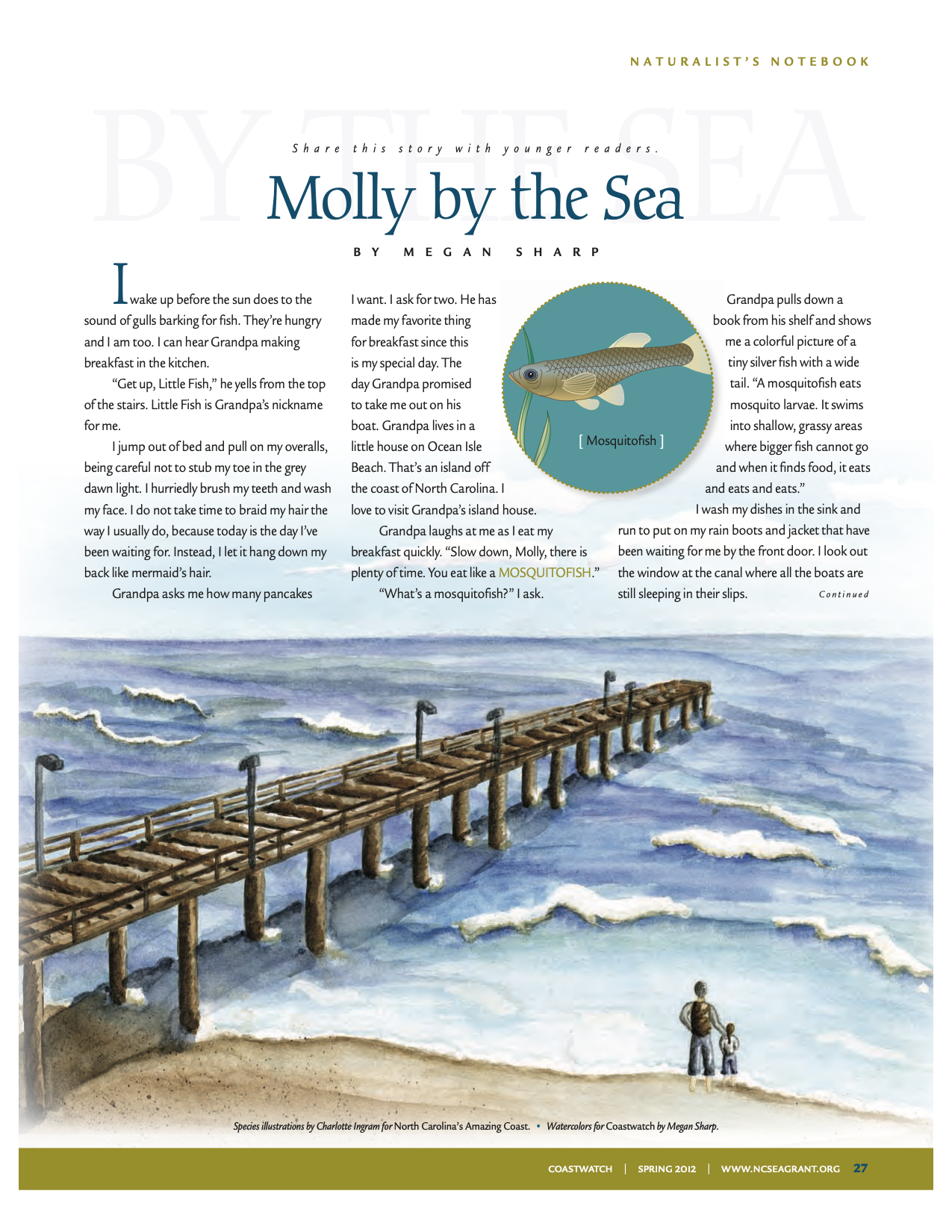 "An image of the first page of the article, ""Molly by the Sea"""