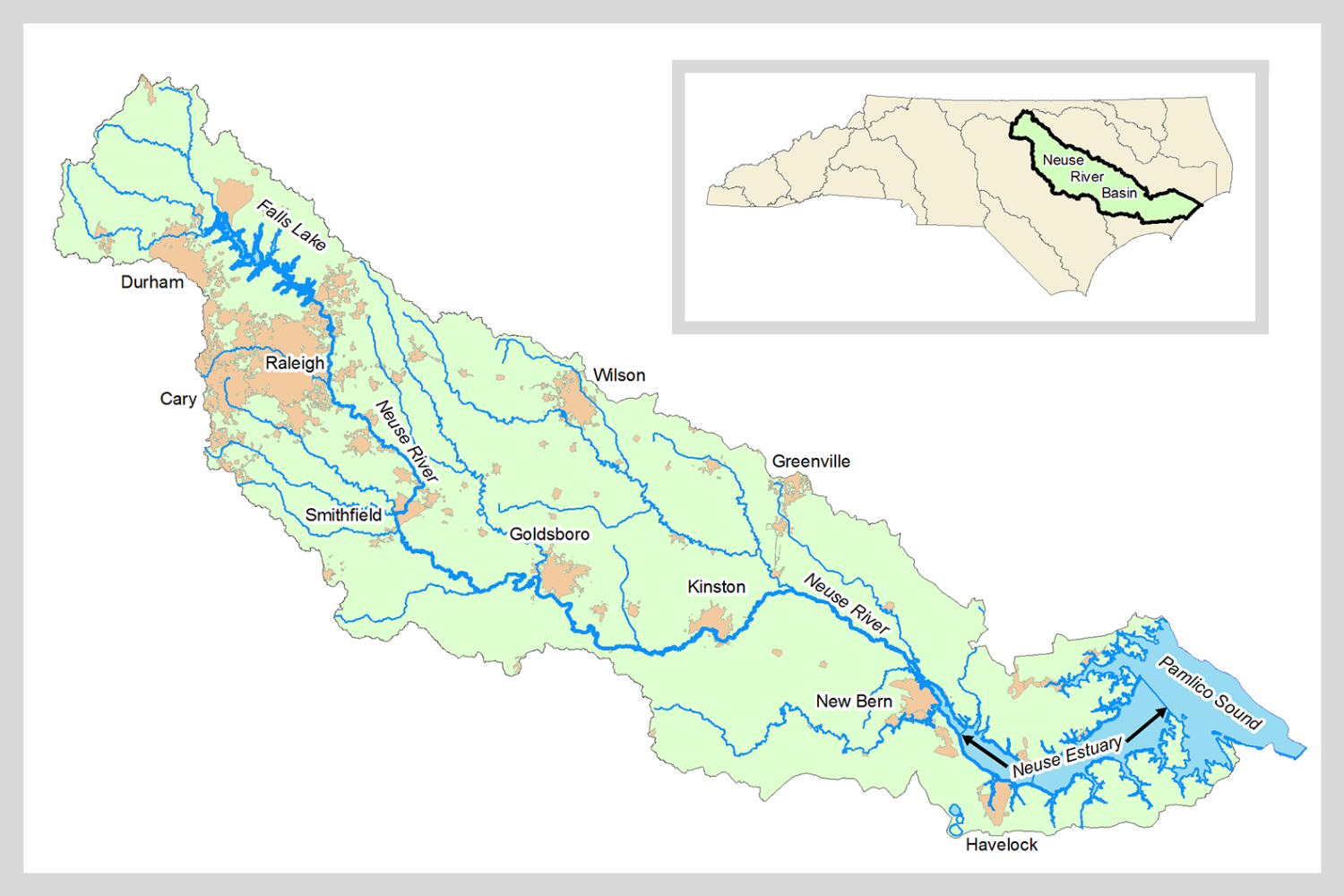 Map of the Neuse River basin